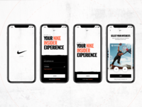 Nike - Insider Experience concept mobile typography app interaction grid layout ui design