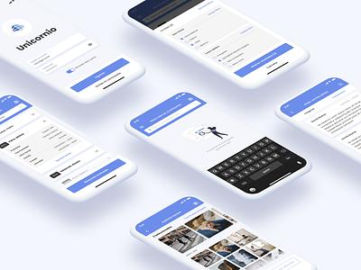 Unicornio - Health Care App healthcare app app interaction clean layout ui design