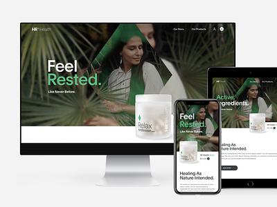 HR Health - Ecommerce Website clean interaction layout ui web design ecommerce design