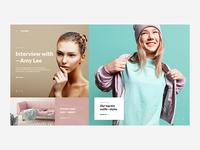 Introvert   Fashion website concept