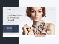 Vogue   Fashion Website concept