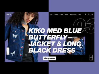 UNIF | Page redesign concept store shop homepage modern exclusive brutalism ecommerce design clean clothing app