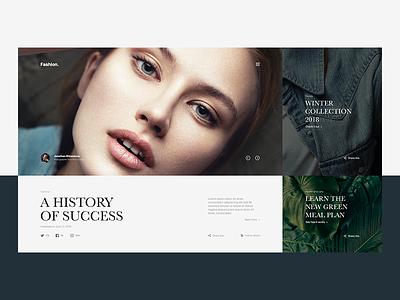 FASHION | Modular Website Concept ui typography template mondrianism modular minimal layout landing interaction fashion design block