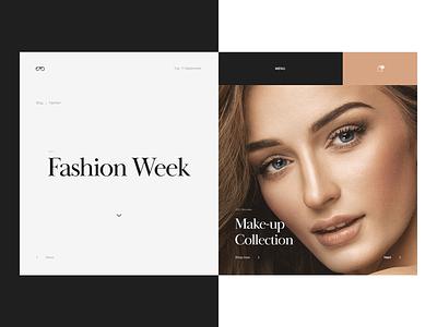 Fashion Site web site fashion mondrianism interaction grid clean template minimal layout typography ui design