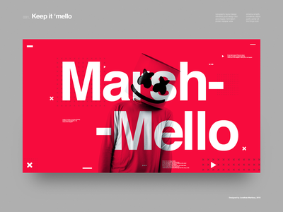 Keep it 'mello helvetica type poster music grid clean minimal layout ui typography design