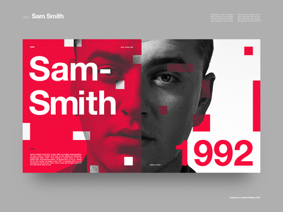 Sam Smith | Type poster? music poster helvetica clean grid minimal layout typography ui design