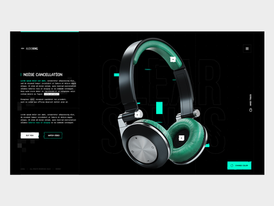 AudioKing | Clear Sonus (product landing page exercise) clean grid minimal layout typography ui design