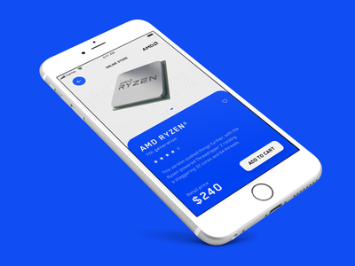 AMD Online Store App - Concept Design ux interaction app mockup design grid clean minimal layout typography ui