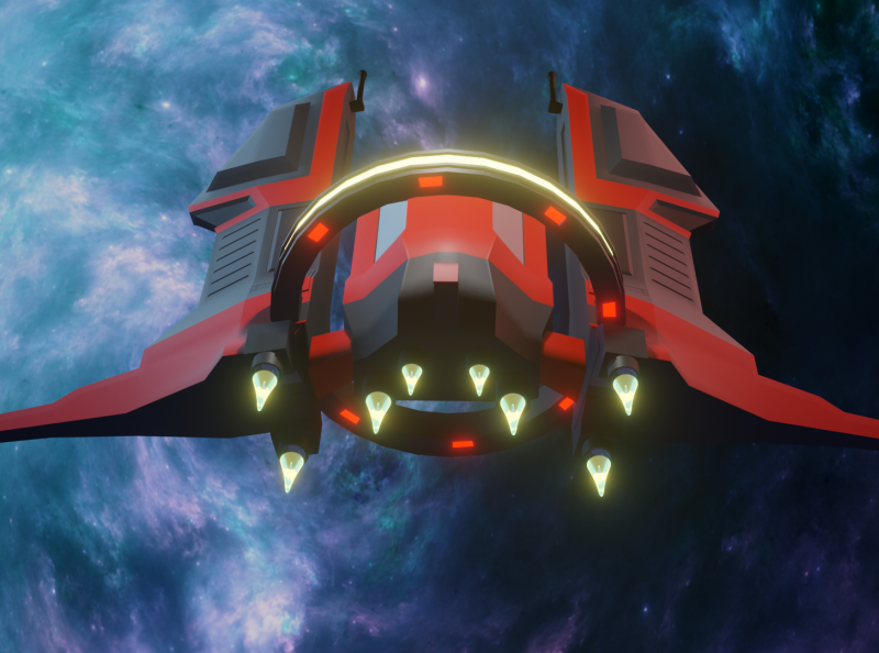 Low Poly Space Fighter