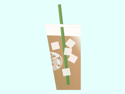Starbucks Coffee iced coffee illustration coffee