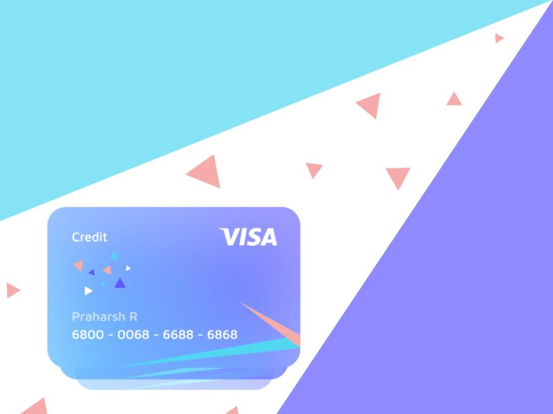 Credit Card - Bank vector app ui design minimalist logo adobexd bank
