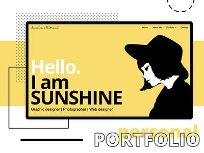 Personal portfolio - Landing page homepage home user inteface ux ui clean minimalism minimalist website design designer webdesign web designer graphic design landingpage interface uiux website builder website portoflio