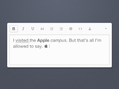 Text Editor interface design apple editor