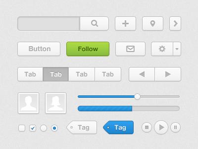 UI Kit ui design interface kit icon button