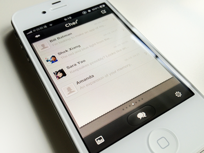 Cher app ios design interface iphone app