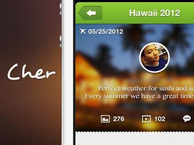Cher App  app iphone ios design travel