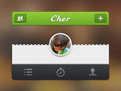 The mini Cher iphone ios app design cher