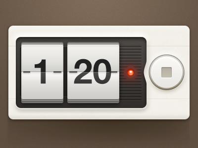 Timer timer app design ui elements