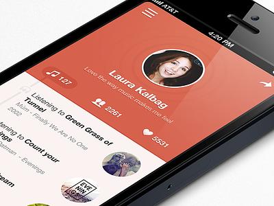Musix app flat app iphone ios design ui interface music