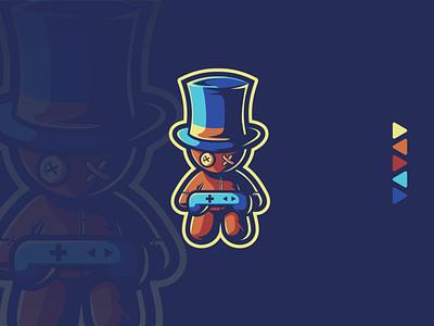 VOODOO mascot logomaker logo design esportlogo esports gaming brand identity illustration illustrator coreldraw dribbble vector branding logo design designer