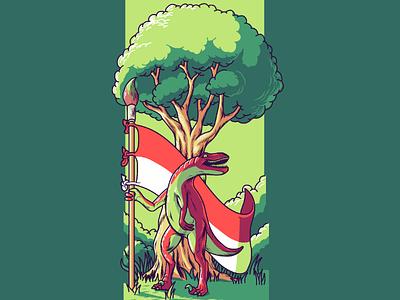 Raftornesia mascot illustrator illustrasi