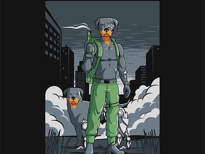 The rott illustration art vector illustrator coreldraw digital art designer illustration