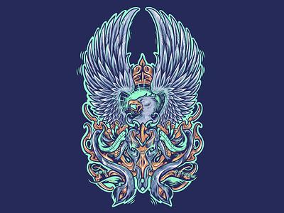 Garuda collaboration indonesia digital art designer illustrator illustration