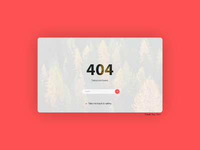 404, Debut not found. ux web debut 404 ui