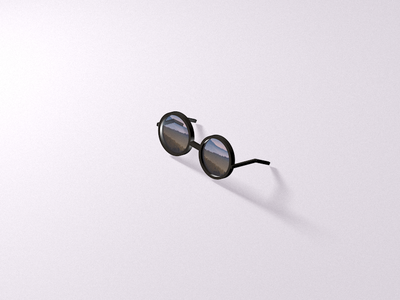 Glasses summer cinema4d 3d