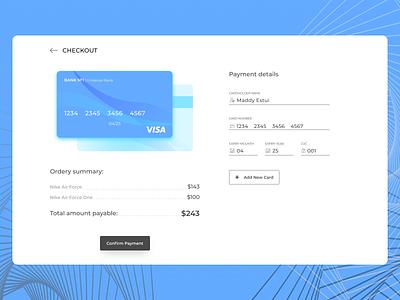 Credit Card Checkout   DailyUI web design dailyui002 dailyui ui