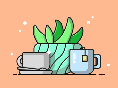 coffee and tea coffee tea cups illustration design ui