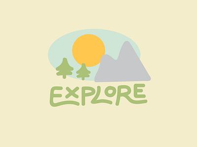 Explore Flat Logo lettering illustrator logo illustration flat design branding