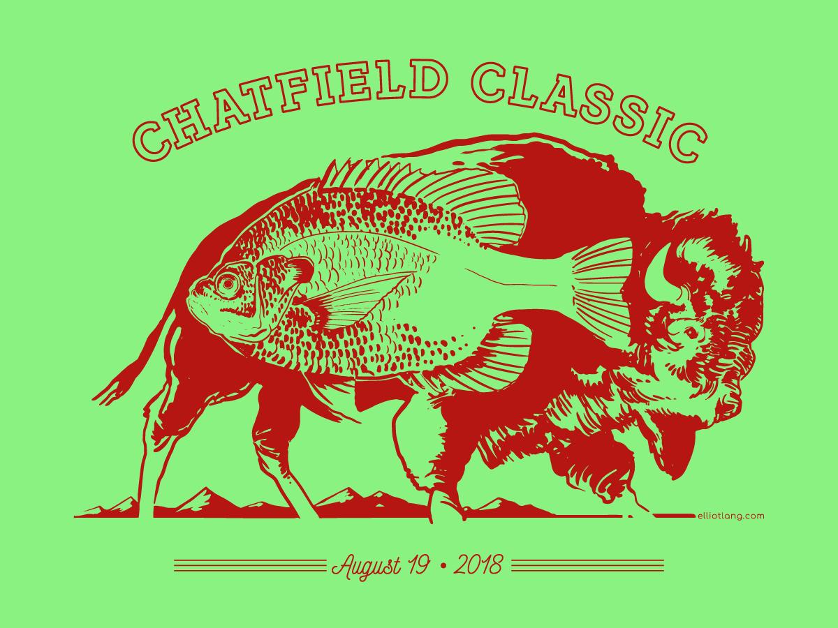 Chatfield Classic 2018 vector icon swim wildlife illustration event logo illustration wildlife design art