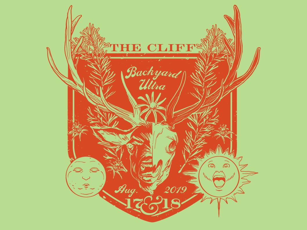 The Cliff 2019 medieval foliage antlers illustrated moon sun elk animal skull skull vector wildlife illustration wildlife icon swim logo illustration event design art
