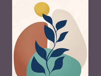 Hello June <3 art vector minimal logo illustration flat digital illustration digital art design branding