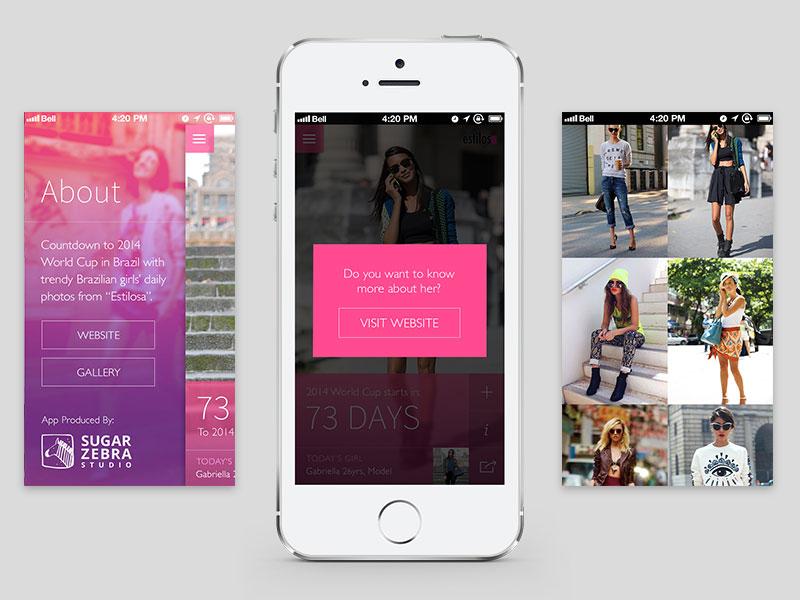 Fashion App fashion app brazil style ui ux flat ios photography development