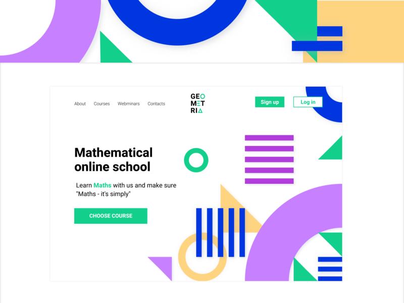GEOMETRY. Online school geometric geometric design geometry graphic logo web design website web ux ui design