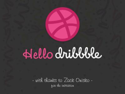 Hello Dribbble! xoomart zack onisko debut designer creative hello dribbble hello dribbble first shot