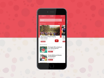 YouTube Red App Concept psd freebie mockup iphone app red videos streaming mobile app ux ui youtube app youtube