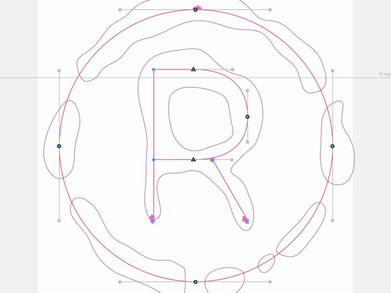 ® registered typography vectors robofont font typeface design