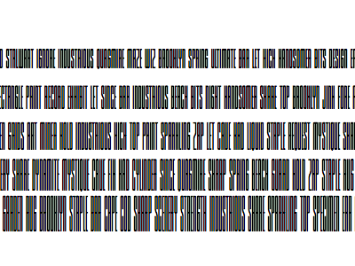 A rainbow of subpixels typography webfonts subpixels rainbow fonts rendering barcode