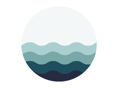 Material Waves logo design material pacific noon
