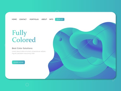 Fluid Color Background Landscape fully color fluid landing page ui landingpage abstract design abstract background landing page design ui artwork illustration