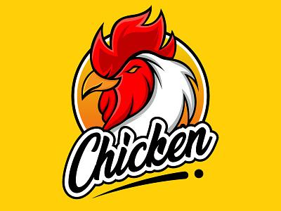 Restaurant Chicken Logo Design graphic design brand brand identity branding mascot illustration restaurant logo restaurant logo