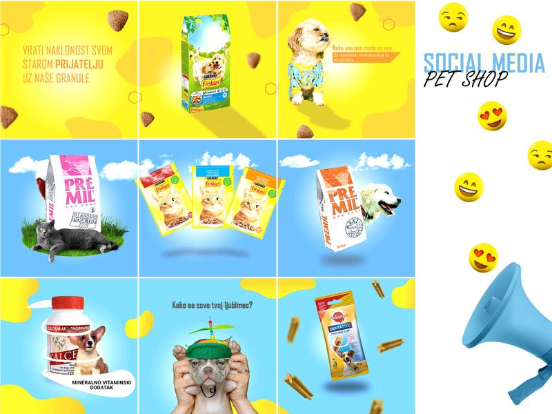 Social Media - Pet Shop food cat dog pet instagram design story post social media