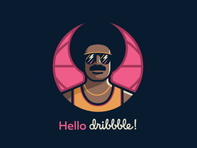 Hello Dribble! basketball player afro