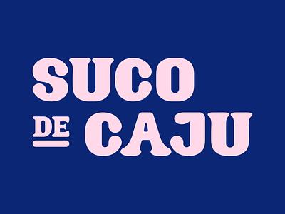 Caju Stickers sticker design illustrator illustration graphic design snack lettering juice cashew