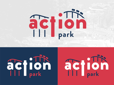 Action Park photoshop adobe illustrator visual identity branding logodesign logo park action rollercoaster warmup weekly dribbble weeklywarmup