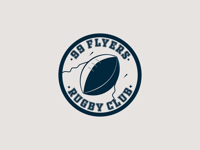 Flyers rocket flyers rugby club rugby dailychallenge logo vector dailylogochallenge dailylogo
