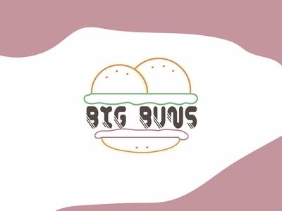 Big Buns bar burgers burger joint big buns burger buns dailychallenge logo vector dailylogochallenge dailylogo
